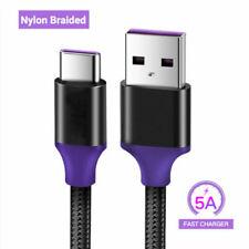 Trenza 5A carga rápida USB Cable Cargador Tipo C Para S10e S8 S9+ Samsung S10 Plus