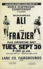 ALI FRAZIER BOXING old ticket poster reprint A4 260GSM POSTER PRINT