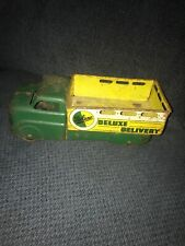 VINTAGE MAR  DELUXE DELIVERY TRUCK GREEN & YELLOW LOGO. Missing Front Grill