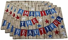 America the Patriotic Americana Woven Tapestry Placemats Set of 4