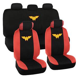 Wonder Woman Car Seat Covers - Full Set Auto Accessory Original Cover