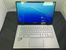 """ASUS C434T ChromeBook Core m3 8100y 4GB 128GB SSD 14"""" touchscreen Laptop Grade A"""