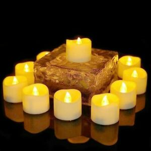 LED Tea Lights Candles Battery Operated Flickering Flameless Realistic Tealight
