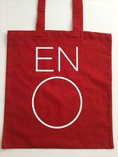 BNWOT - 'ENO' RED & WHITE 'COTTON' TOTE/SHOPPER/ECO/BOOK BAG