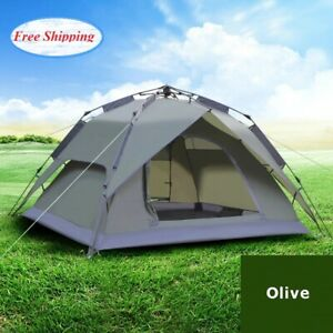 Outdoor Camping Tent 3-4 Person Folding Instant Cabin Waterproof Portable Travel
