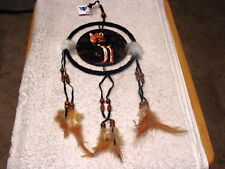 DREAMCATCHER INDIAN WITH A PICTURE OF A WOLF (2)  (CR)