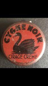 Ancienne boîte de cirage vintage CYGNE NOIR