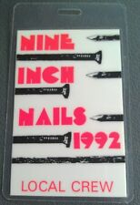 1992 Nine Inch Nails Laminated Backstage Pass Local Crew