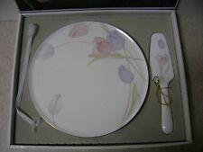 Mikasa Bone China Swiss Garden Cake Pie Plate & Server. New