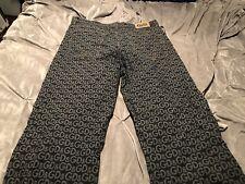 DOLCE & GABBANA Mens Slim Straight Dark Logo Plaque Jeans Sz 40 54