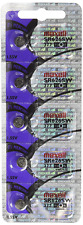SR626SW 377 Silver Oxide Watch Battery 5 Pack, Maxell
