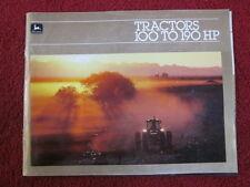 John Deere 100-190 HP Tractor Brochure 1983 4050 4250 4450 4650 4850 A-1-82-11