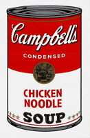 Campbell's Soup-Chicken Noodle (Sunday B. Morning), Silkscreen, Andy Warhol