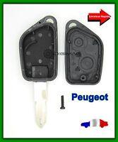 Coque Télécommande Plip 2 Bouton Clé Peugeot 106 205 206 306 405 + Lame vierge