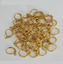 Gold Plated Brass LEVER BACK With Open Ring Pkg.Of 50 /Earring Findings