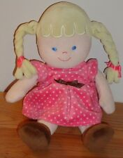 """Carter's Baby GIRL DOLL beanbag plush 9"""" Blonde Pigtails"""