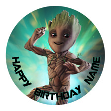 Guardians of the Galaxy Groot Edible Cake Topper Personalised Party Decoration