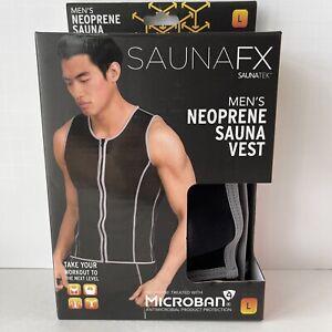 SaunaFX Men's Neoprene Sauna Microban Slimming Vest Size L Gym Sweat Workout