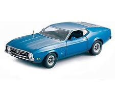 1971 FORD MUSTANG SPORTSROOF DIE CAST 1/18 BLUE BY SUN STAR 3612