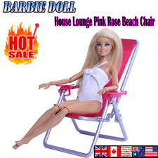 1:6 Scale Dollhouse Furniture FOR Blythe House Lounge Pink Rose Beach Chair