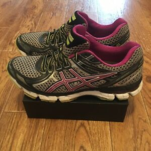 Women's Asics GT 2000 2 Grey Orchid Running Shoes T3Q6N US Size 8.5