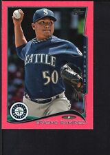ERASMO RAMIREZ 2014 TOPPS MINI #128 PINK PARALLEL MARINERS SP #12/25