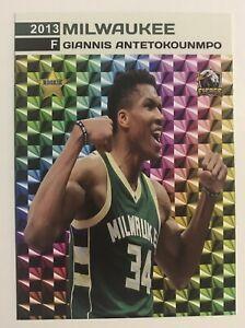 2013 Giannis Antetokounmpo Prism Style Star Rookie Card Milwaukee Bucks