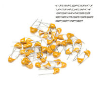 Monolithic Multilayer Chip Ceramic Capacitors 50V 0.1uF to 680pF Pitch 5.08mm