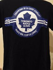 Rare Toronto Maple Leafs 1967 Stanley Cup French Version Men's  T-Shirt L