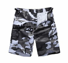 Mens Army Military BDU Cargo Shorts Work Camping Fishing Camouflage Shorts