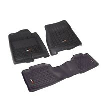 Rugged Ridge Front/Rear Floor Mats CHEVY GMC 2500HD 3500HD (07-14) Crew Cab Blk