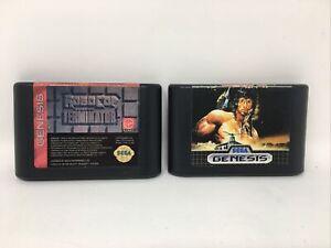 2 Game Lot (Sega Genesis) RoboCop vs. The Terminator & Rambo 3- Authentic/Tested