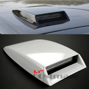 "10"" x7.25"" Front Air Intake ABS Unpainted White Hood Scoop Vent For Subaru Mazda"
