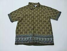 Vintage Gymboree Boys Size Large (5) Tiki Button Front Shirt Great Condition