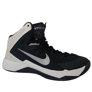 Nike Hyperquickness Women's 7.5 Basketball Shoes High Tops Black White READ
