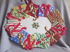 "17"" Christmas Platter Fitz & Floyd Happy Holidays Pattern"