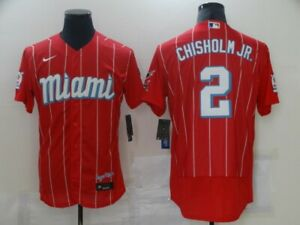 Men's Miami Marlins Jazz Chisholm Jr.Red Player City Connect Jersey