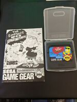 The Simpsons Bart vs The Space Mutants (Sega Game Gear, 1992) Booklet + Game