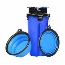 Dog Water Bottle Dog Bowls for Traveling Pet Food Container 2-in-1 with Colla...