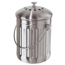 Stainless Steel Counter Top Kitchen Scraps Garbage Compost Bucket Insert 3.8L