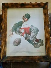 "1925 Norman Rockwell ""Tackled"" 11"" X 14"" Print - Curtis Publishing Company"
