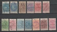JY - New Zealand 1882 / 1901 Postal Fiscal 13 Different, Values 2/- to £1