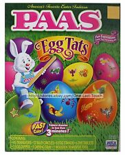PAAS* 74pc Easter Egg EGG TATS Fun Expressions DECORATING KIT Yellow+Orange+Pink