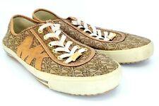 Michael Kors Sneakers Womens Sz 7.5 Brown MK Signature Logo Lace Up Fashion Shoe
