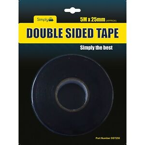DST255 - TAPE DOUBLE SIDED 25MM X 5 MTR. SIMPLY