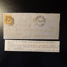 NAPOLÉON N°23 LETTRE COVER CACHET ESPAGNOL GC 2 + CAD ADMON DE CAMBIO