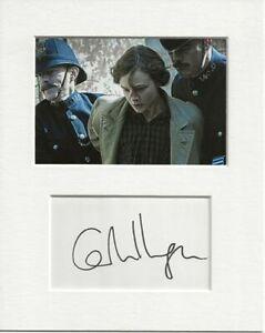 Carey Mulligan suffragette signed genuine authentic autograph signature AFTAL