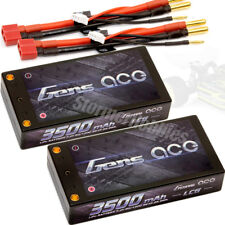 NEW (2) Gens Ace 3500mAh SHORTY LCG 2S 7.4V 60C Lipo Battery LOSI ORION REEDY