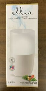 Homedics Ellia Ultrasonic Aroma Diffuser ARM-310WT New In The Box FREE SHIPPING