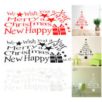 Merry Christmas Xmas Happy New Year Wall Stickers Vinyl Decal Window Decoration